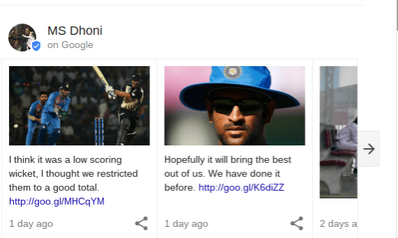 Google Posts Live Sports Cards